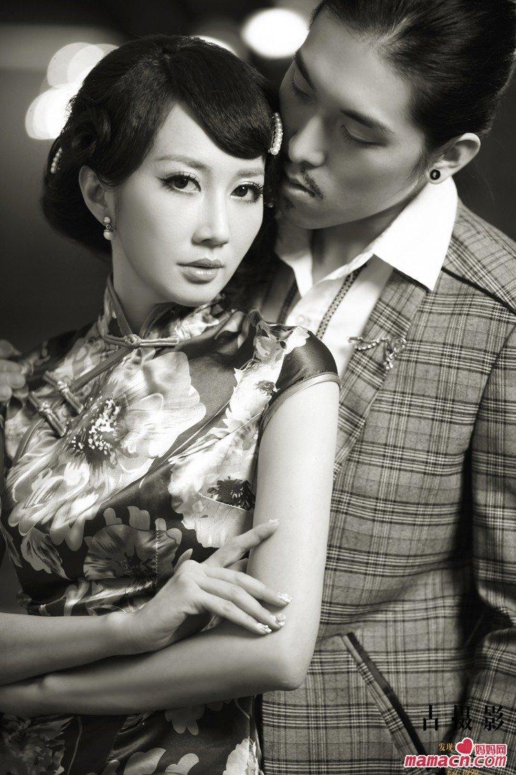 我的婚纱照 复古旗袍惊讶来袭 广州婚纱摄影 广州妈妈网图片